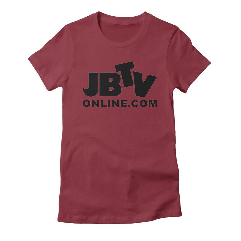 JBTV Black Logo Women's Fitted T-Shirt by JBTV