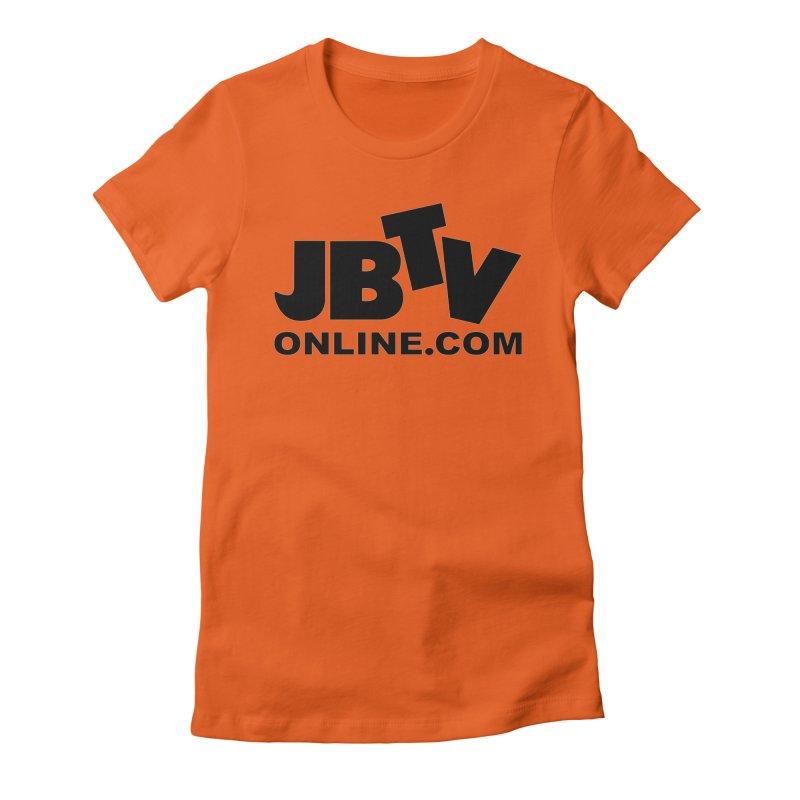 JBTV Black Logo Women's Fitted T-Shirt by JBTV's Artist Shop