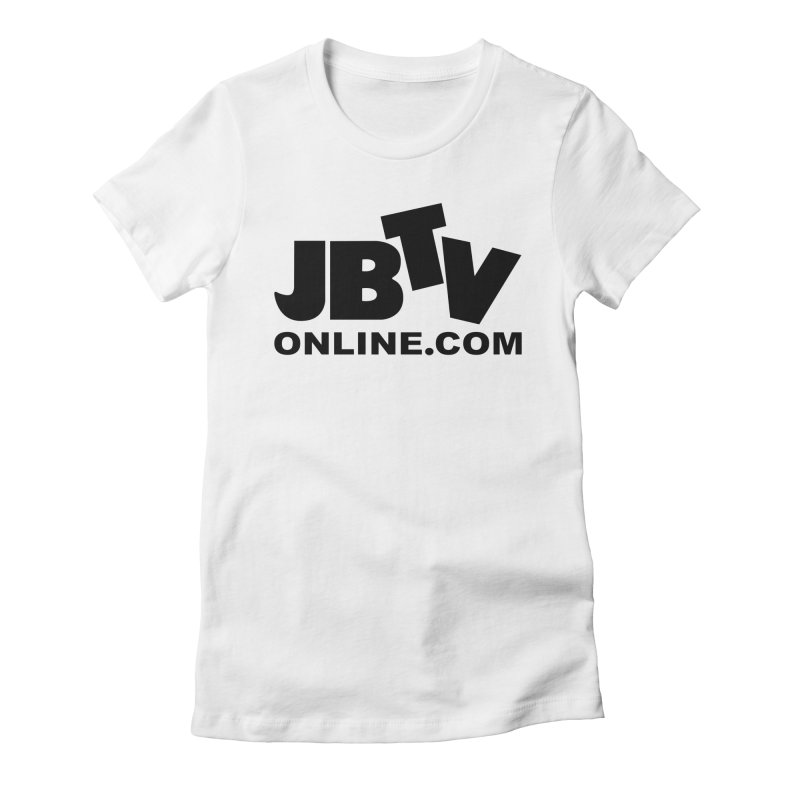 JBTV Black Logo Women's Fitted T-Shirt by JBTV