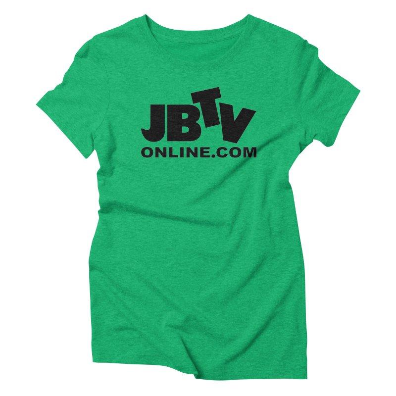 JBTV Black Logo Women's Triblend T-Shirt by JBTV