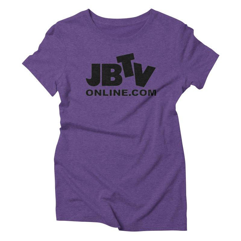 JBTV Black Logo Women's Triblend T-Shirt by JBTV's Artist Shop