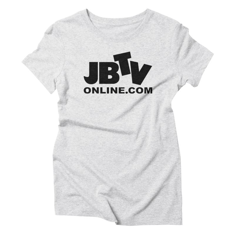 JBTV Black Logo Women's Triblend T-shirt by JBTV's Artist Shop