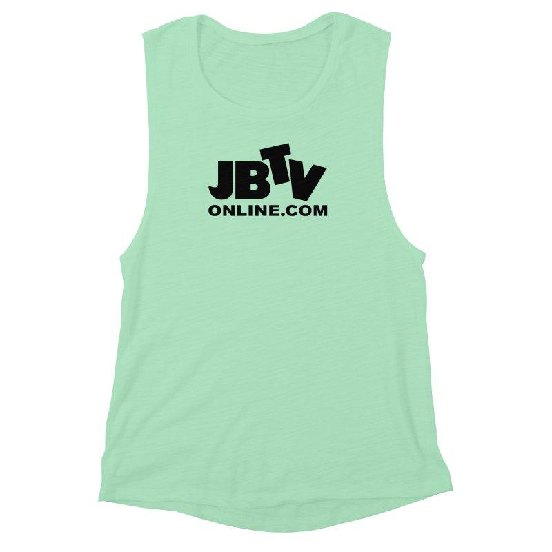 JBTV Black Logo Women's Muscle Tank by JBTV's Artist Shop