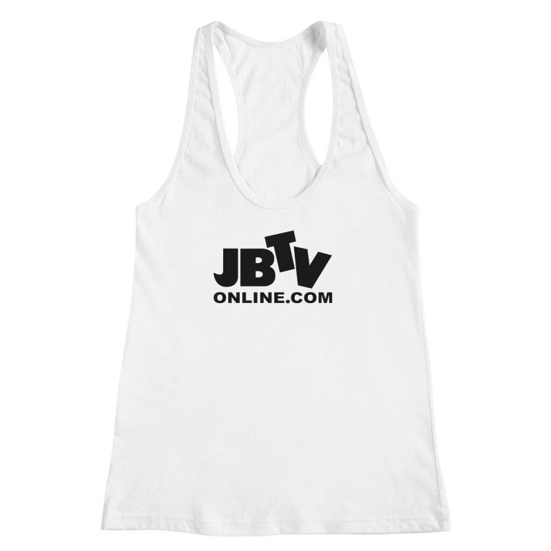 JBTV Black Logo Women's Racerback Tank by JBTV's Artist Shop