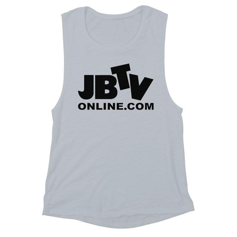 JBTV Black Logo Women's Muscle Tank by JBTV