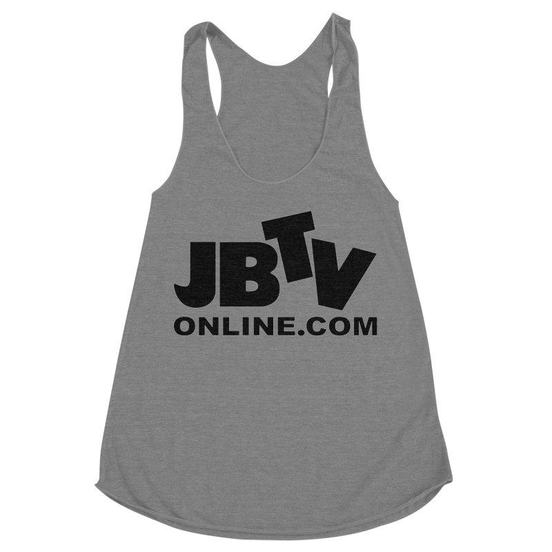 JBTV Black Logo Women's Racerback Triblend Tank by JBTV