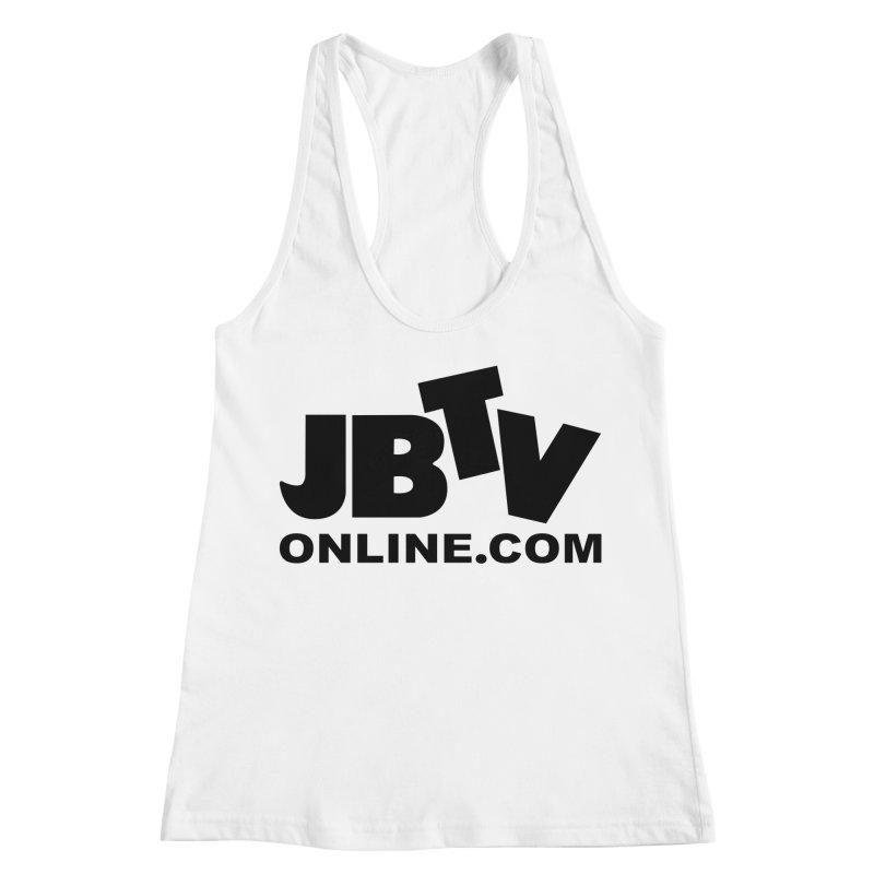 JBTV Black Logo Women's Racerback Tank by JBTV