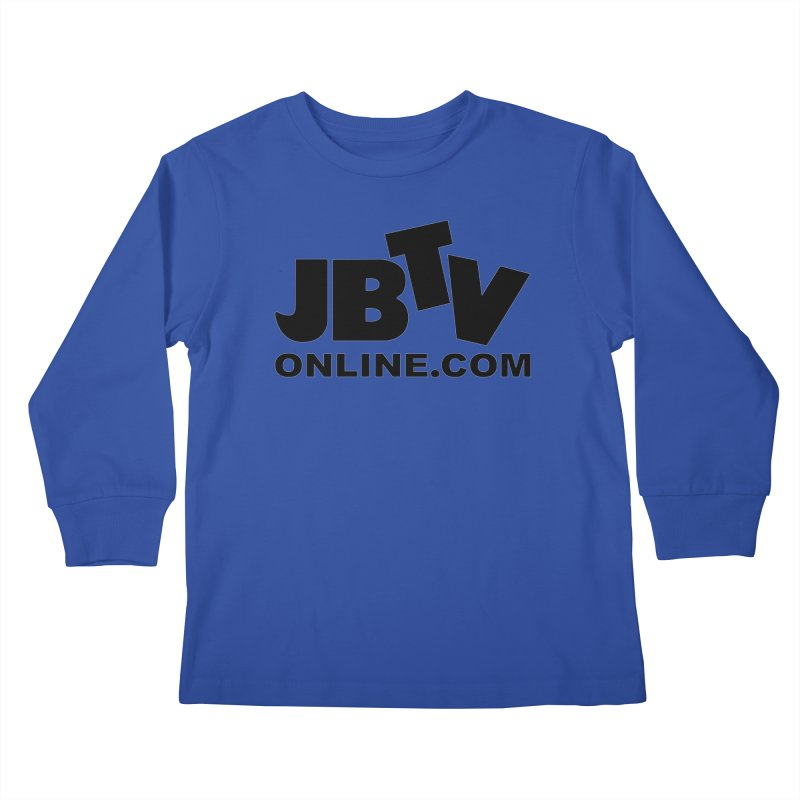 JBTV Black Logo Kids Longsleeve T-Shirt by JBTV