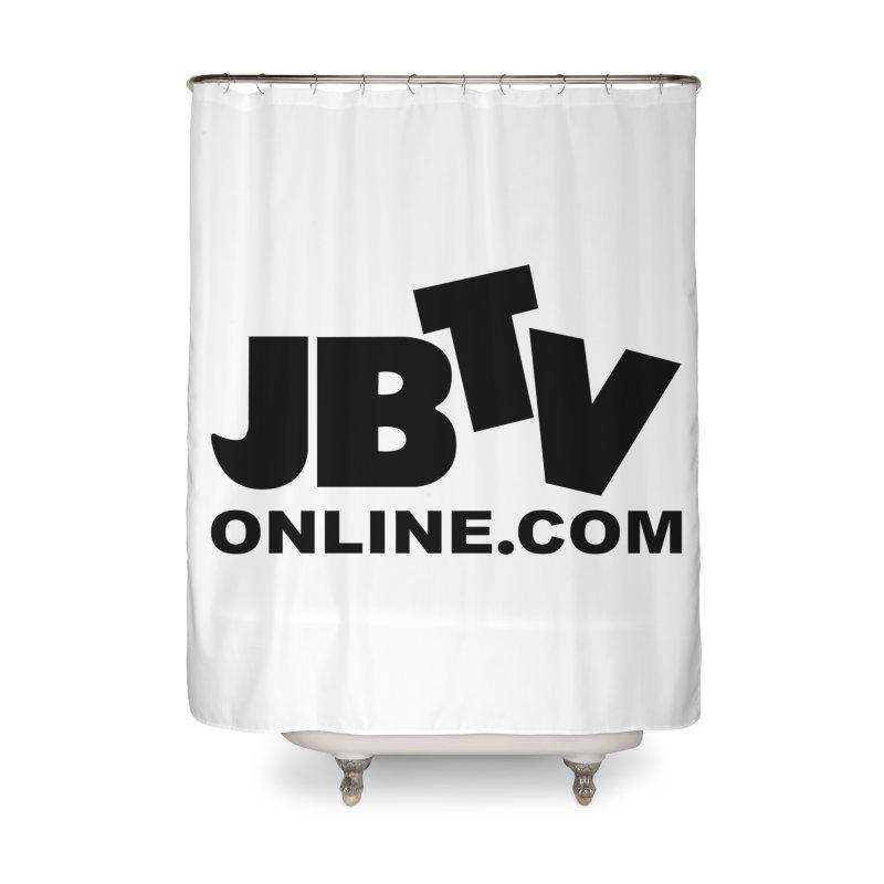 JBTV Black Logo Home Shower Curtain by JBTV's Artist Shop