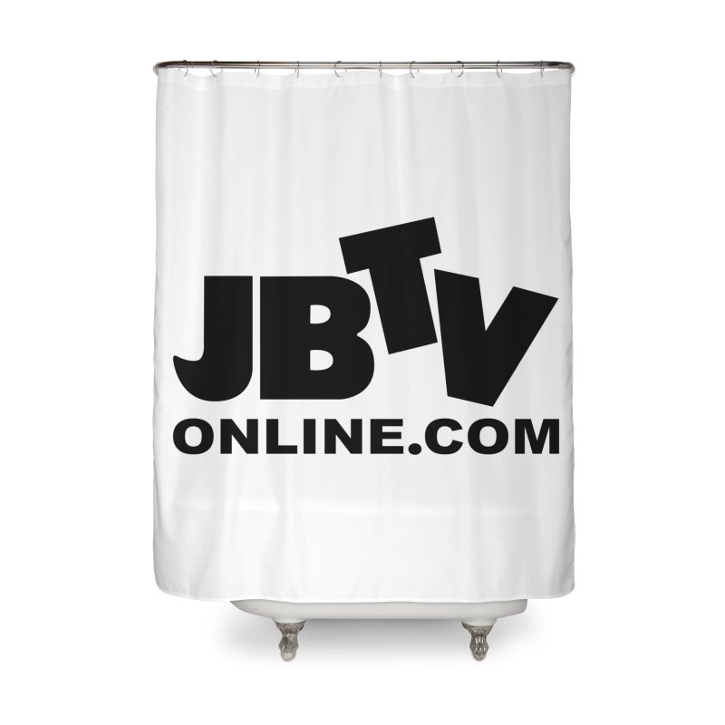JBTV Black Logo Home Shower Curtain by JBTV