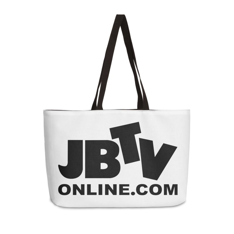 JBTV Black Logo Accessories Weekender Bag Bag by JBTV