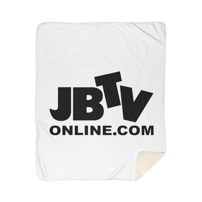 JBTV Black Logo Home Sherpa Blanket Blanket by JBTV