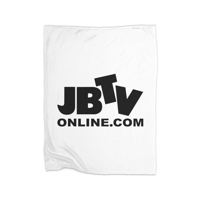 JBTV Black Logo Home Fleece Blanket Blanket by JBTV