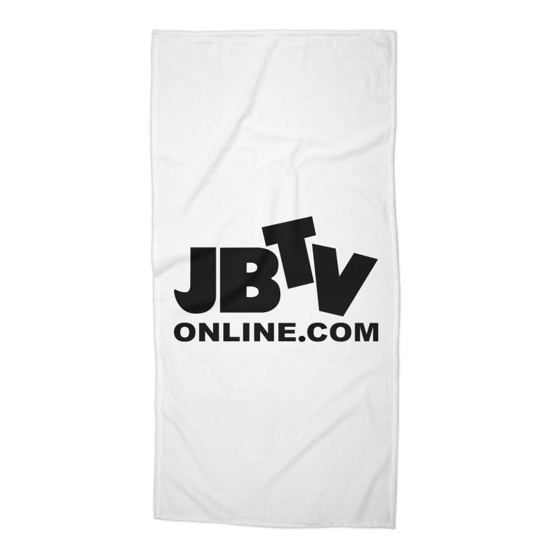 JBTV Black Logo Accessories Beach Towel by JBTV's Artist Shop