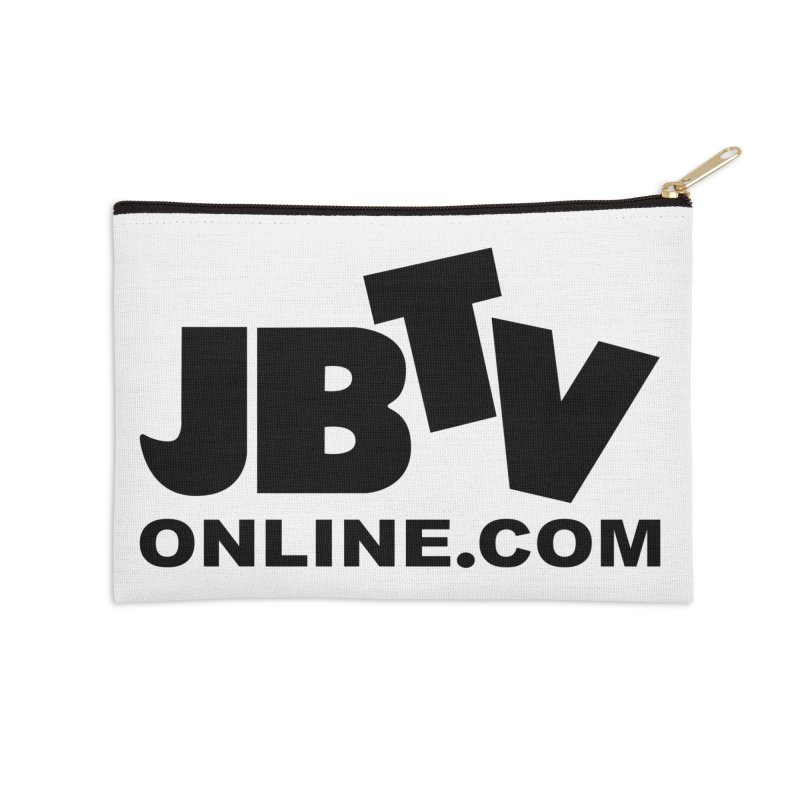 JBTV Black Logo Accessories Zip Pouch by JBTV's Artist Shop