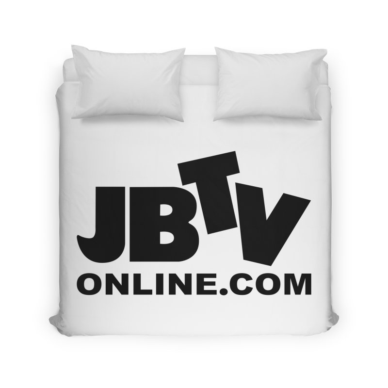 JBTV Black Logo Home Duvet by JBTV's Artist Shop