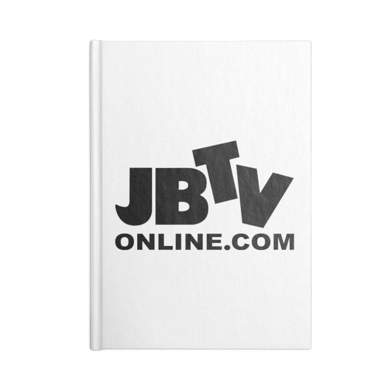 JBTV Black Logo Accessories Lined Journal Notebook by JBTV