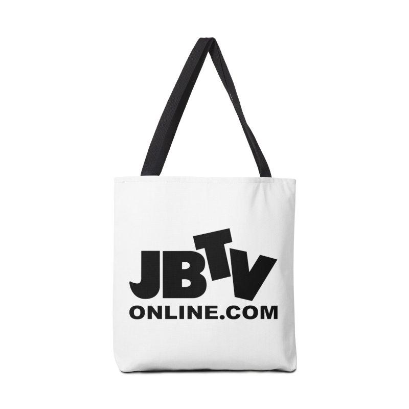JBTV Black Logo Accessories Tote Bag Bag by JBTV