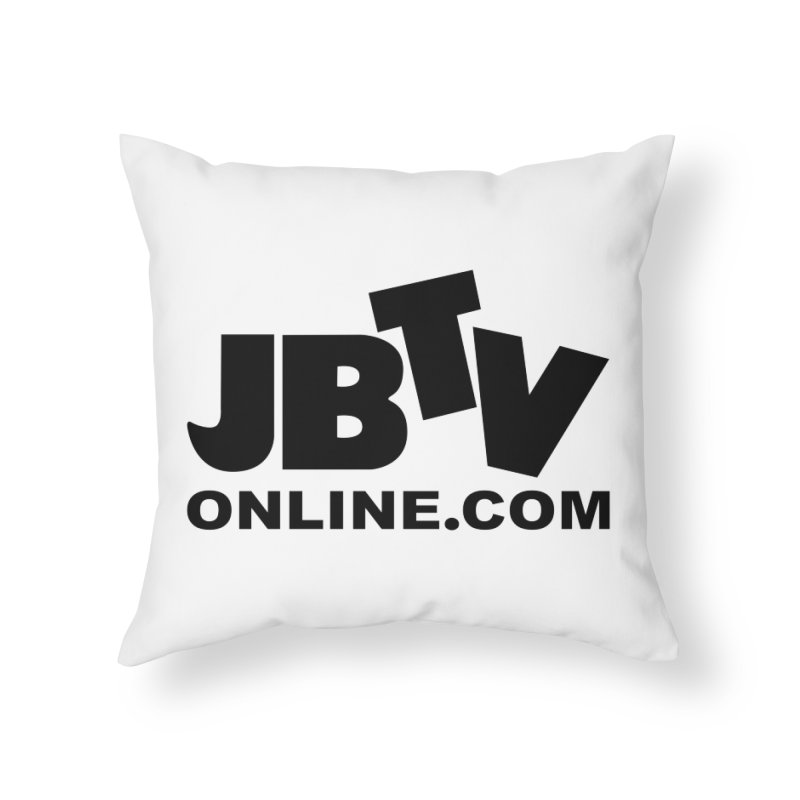 JBTV Black Logo Home Throw Pillow by JBTV's Artist Shop