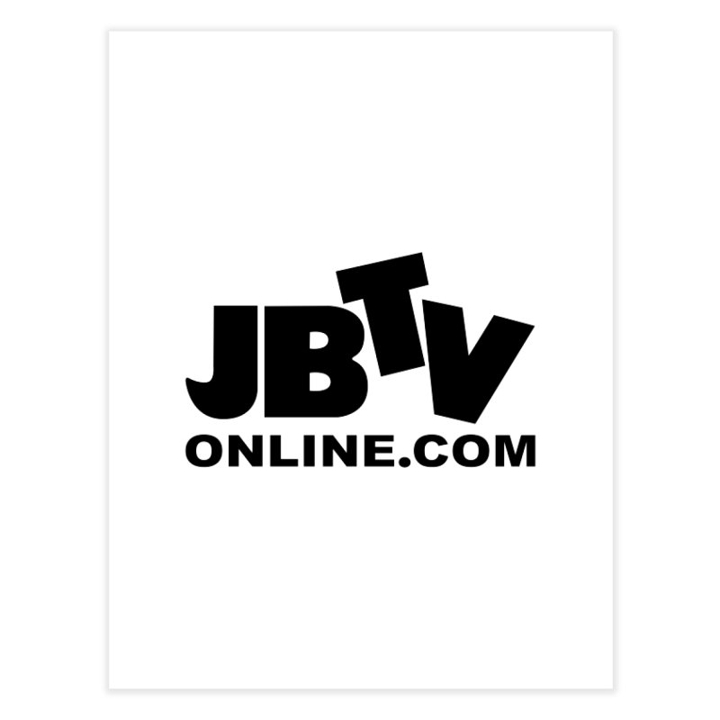 JBTV Black Logo Home Fine Art Print by JBTV's Artist Shop