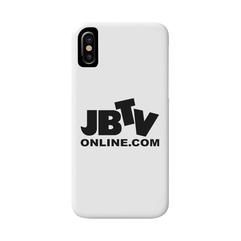 JBTV Black Logo Accessories Phone Case by JBTV's Artist Shop