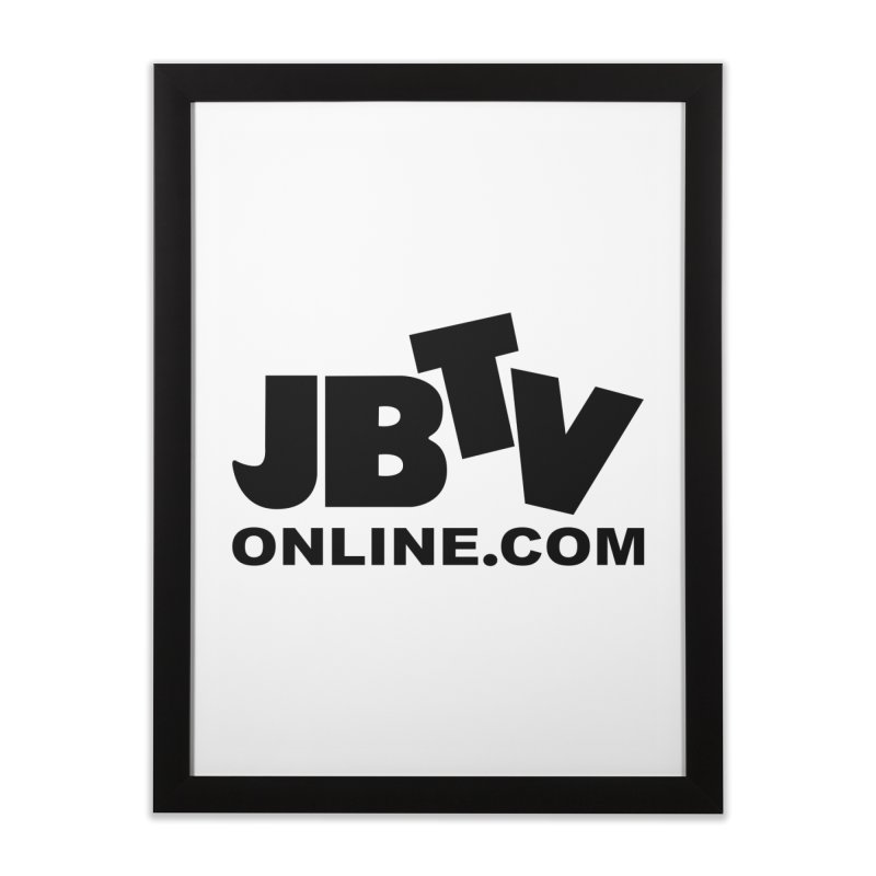JBTV Black Logo Home Framed Fine Art Print by JBTV