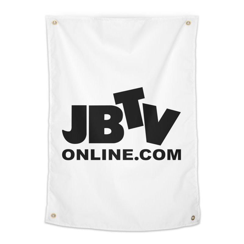 JBTV Black Logo Home Tapestry by JBTV's Artist Shop