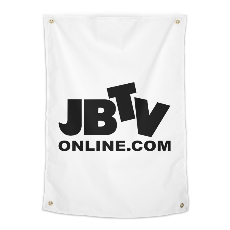 JBTV Black Logo Home Tapestry by JBTV