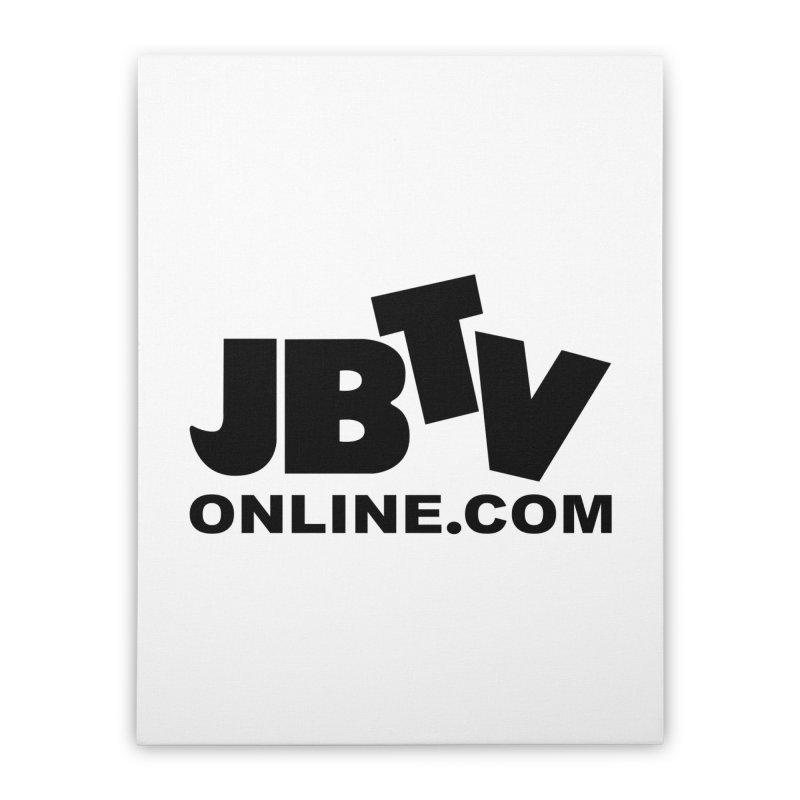 JBTV Black Logo Home Stretched Canvas by JBTV's Artist Shop
