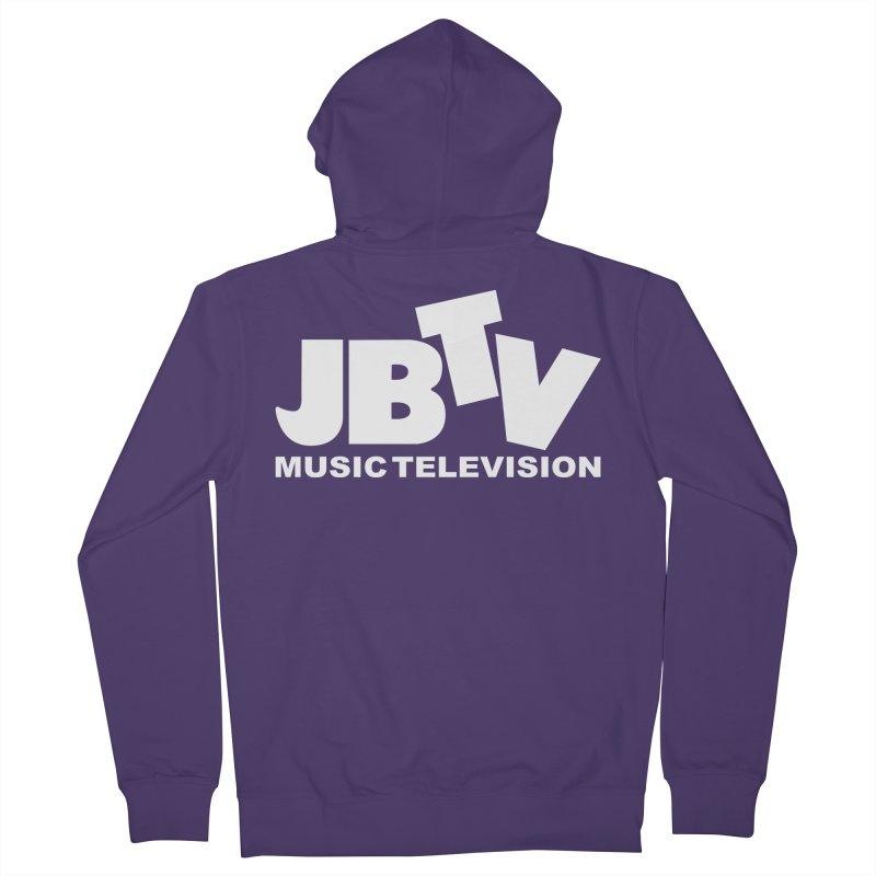 JBTV Music Television White Women's Zip-Up Hoody by JBTV