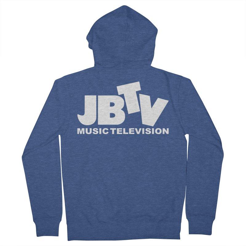 JBTV Music Television White Men's Zip-Up Hoody by JBTV