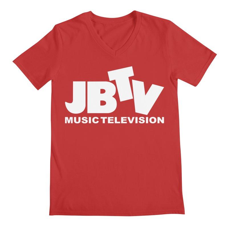 JBTV Music Television White Men's V-Neck by JBTV