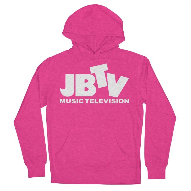 JBTV Music Television White Women's French Terry Pullover Hoody by JBTV's Artist Shop