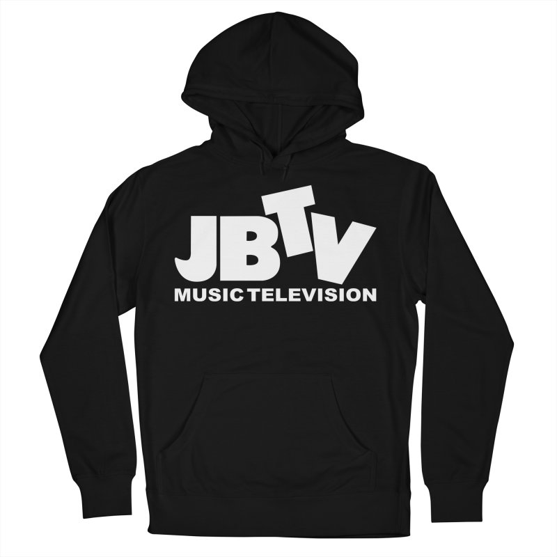 JBTV Music Television White Women's French Terry Pullover Hoody by JBTV