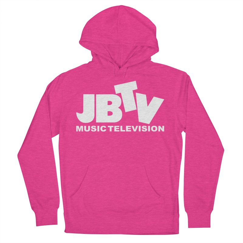 JBTV Music Television White Men's French Terry Pullover Hoody by JBTV's Artist Shop