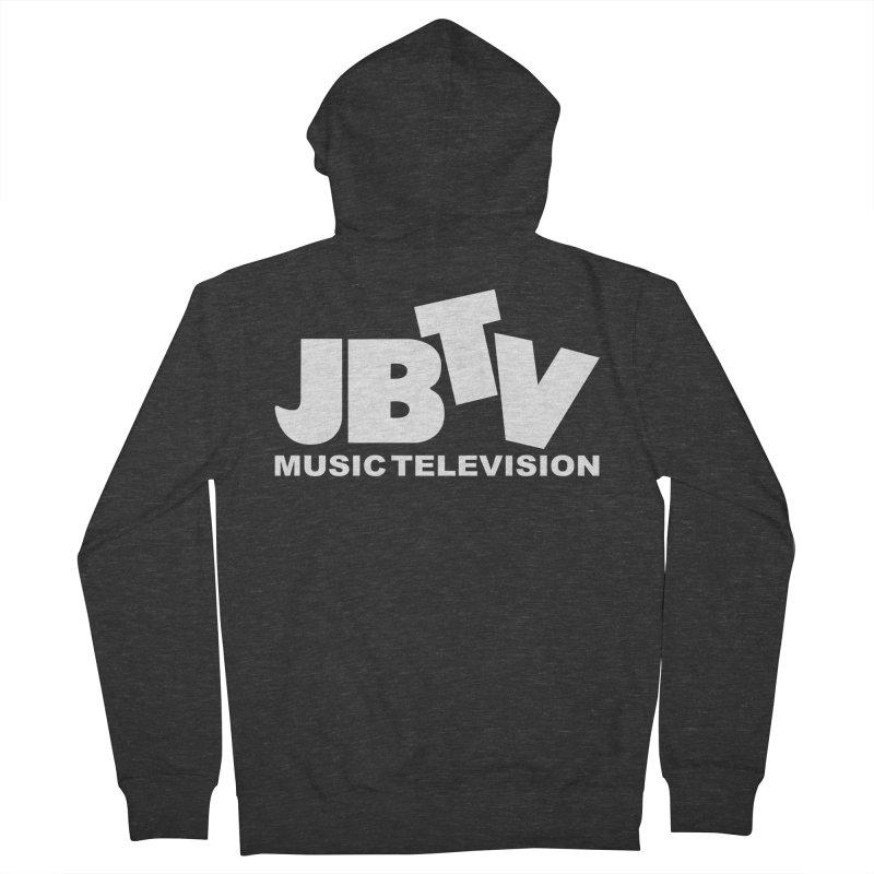 JBTV Music Television White Women's French Terry Zip-Up Hoody by JBTV