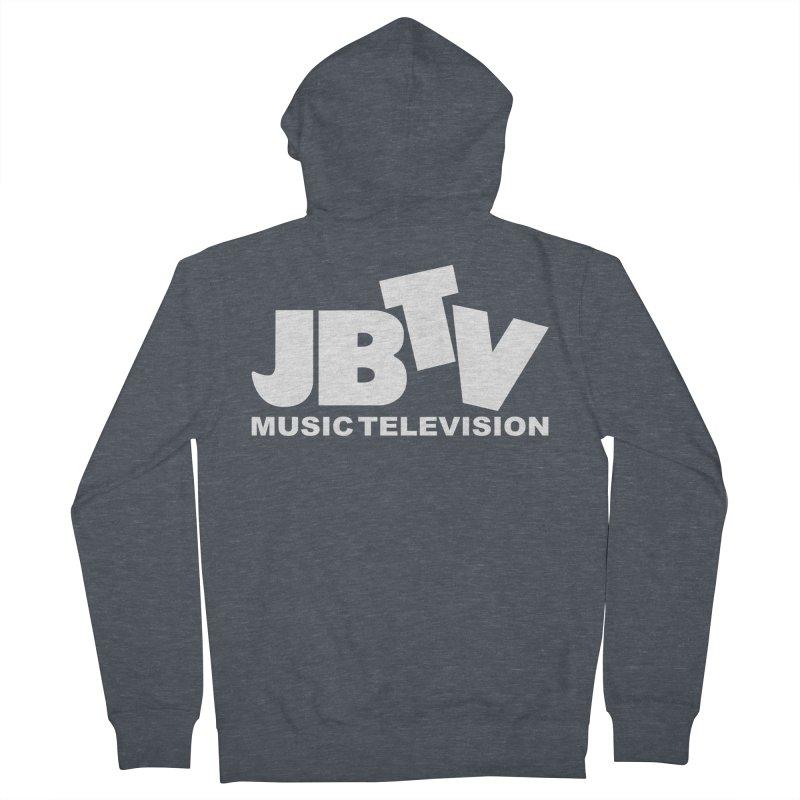JBTV Music Television White Women's Zip-Up Hoody by JBTV's Artist Shop