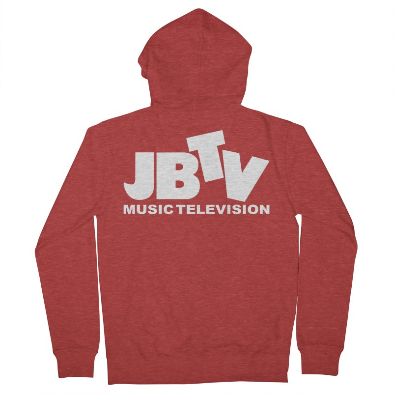 JBTV Music Television White Women's French Terry Zip-Up Hoody by JBTV