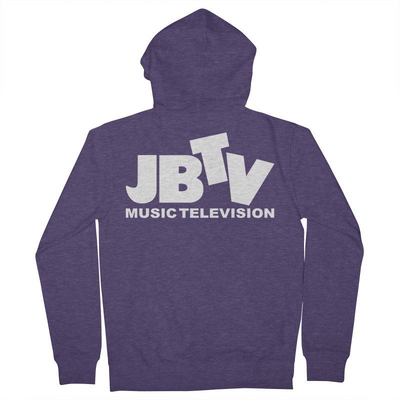 JBTV Music Television White Men's French Terry Zip-Up Hoody by JBTV's Artist Shop