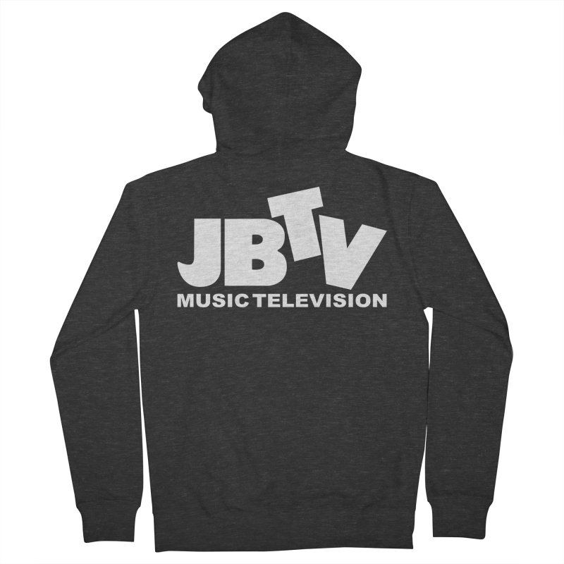 JBTV Music Television White Men's Zip-Up Hoody by JBTV's Artist Shop
