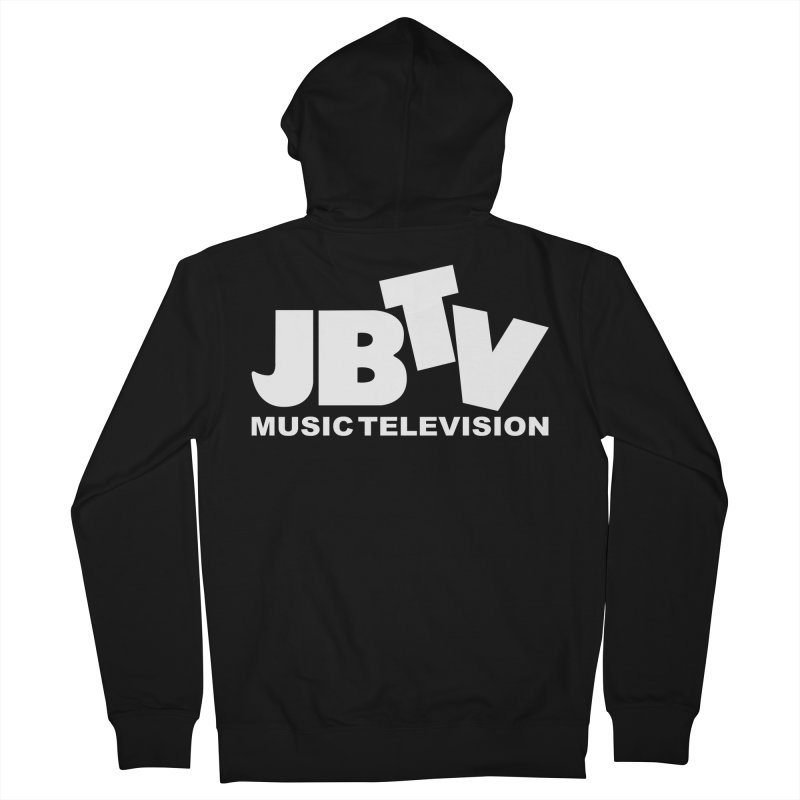 JBTV Music Television White Men's French Terry Zip-Up Hoody by JBTV