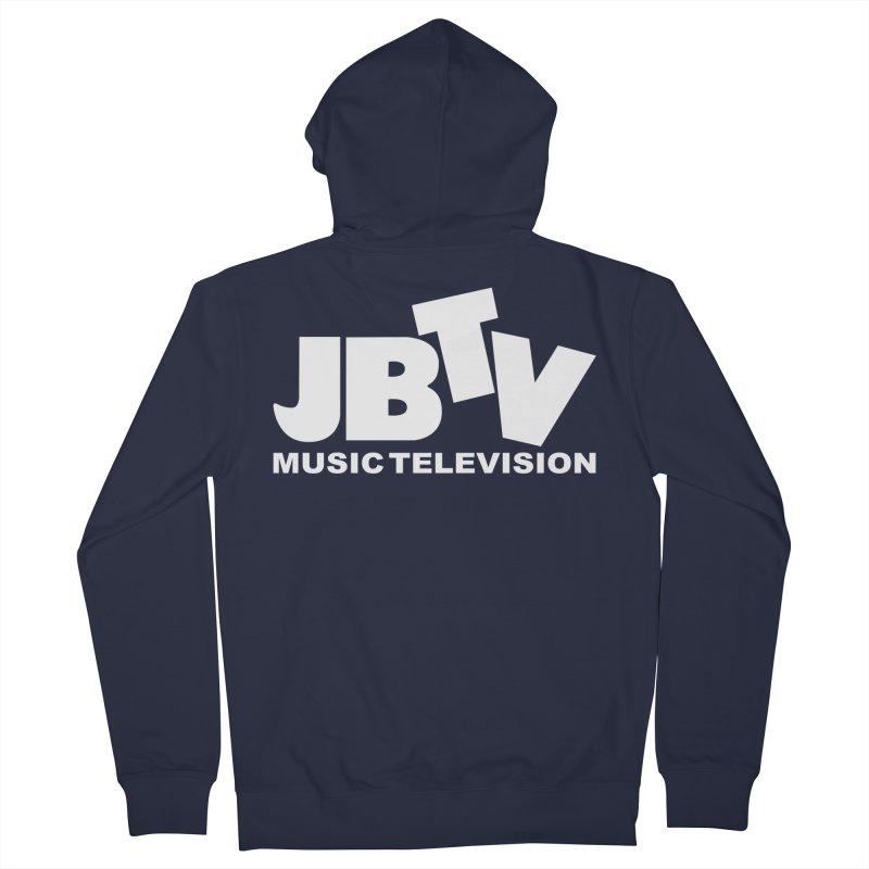 JBTV Music Television White Men's Zip-Up Hoody by JBTV's Artist Shop