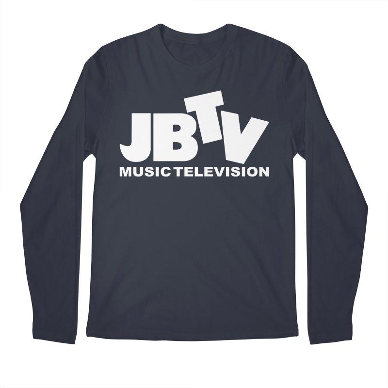 JBTV Music Television White Men's Regular Longsleeve T-Shirt by JBTV's Artist Shop