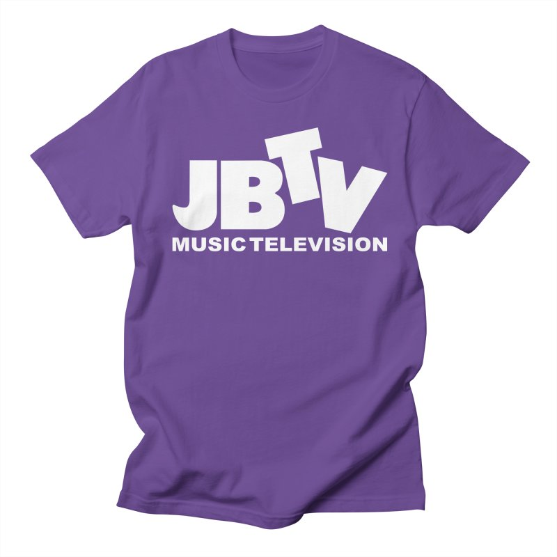 JBTV Music Television White Women's Regular Unisex T-Shirt by JBTV