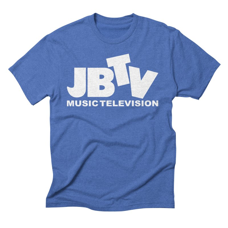 JBTV Music Television White Men's Triblend T-Shirt by JBTV's Artist Shop