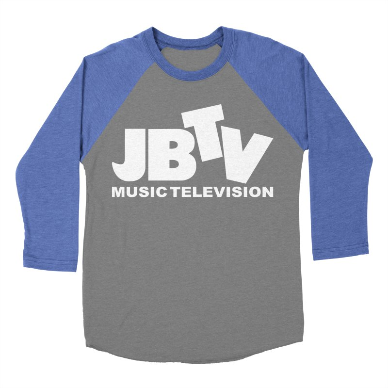 JBTV Music Television White Women's Baseball Triblend Longsleeve T-Shirt by JBTV