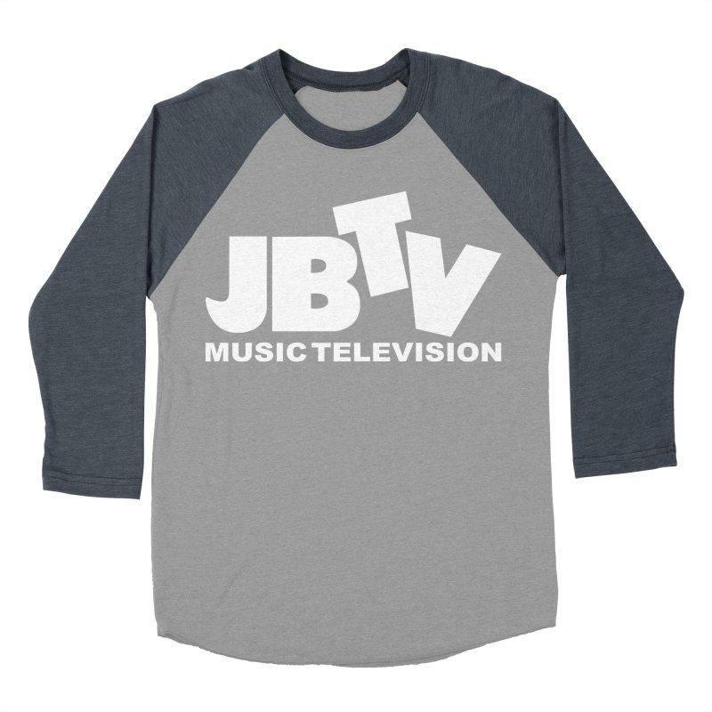 JBTV Music Television White Men's Baseball Triblend Longsleeve T-Shirt by JBTV
