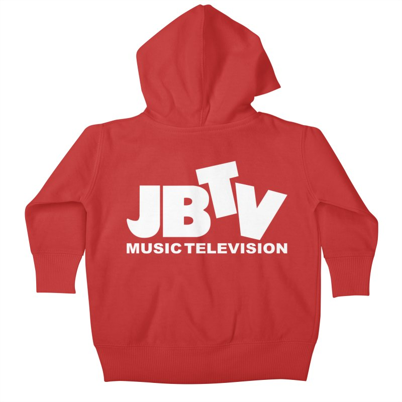 JBTV Music Television White Kids Baby Zip-Up Hoody by JBTV