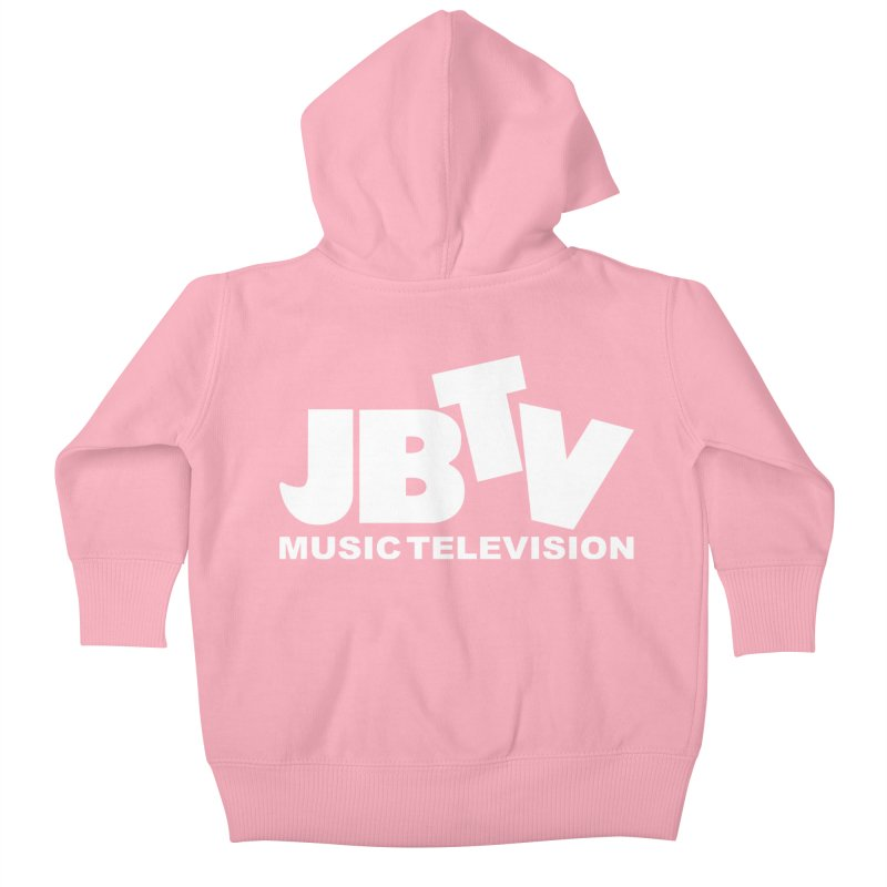 JBTV Music Television White Kids Baby Zip-Up Hoody by JBTV's Artist Shop