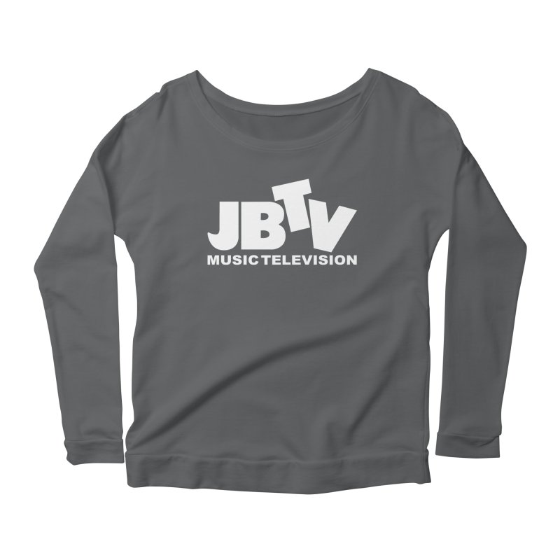JBTV Music Television White Women's Scoop Neck Longsleeve T-Shirt by JBTV
